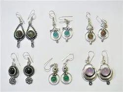 Hanging Dangle Assorted Natural Semi Precious Stone Gemstone Earrings