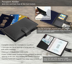 Passport Holder With Sim Card Safe Case & Sim Card Jackets