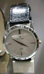 Mens Leather Strap Wrist Watch