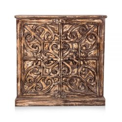 Home Glamour Brown Trent Wooden Cabinet, For Hotel,Home etc