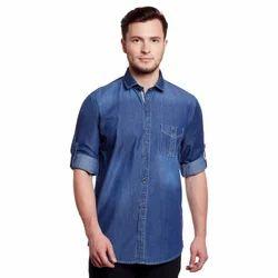 Mens Denim Shirt, Size: M-XXL