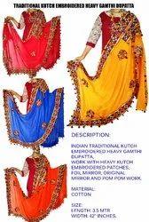 Original Mirror Work Dupatta- Gujarati Traditional