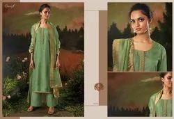 Ganga Launch Aani 8313-8318 Series Silk Long Salwar Kameez Catalog