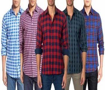 97908fb1d Men Multicolor Check Shirts Combo Of 5