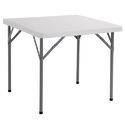 Square Plastic Folding Table, Size: 87 X 87 X 74 Cm