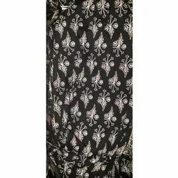 Printed Black Viscose Dress Fabric, for Bedsheet