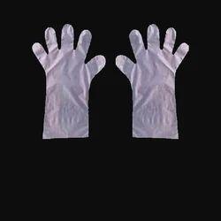 Unisex Full Fingered Disposable Plastic Hand Gloves