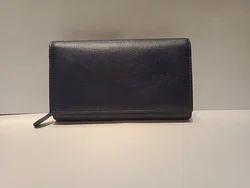Mon Exports Blue Women''s Leather Purse