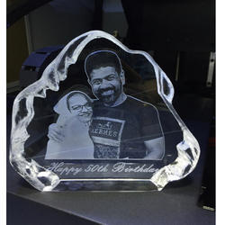 2D Crystal Engraving