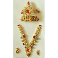 Pushti Multicolor Fancy Laddu Gopal Jewellery Set