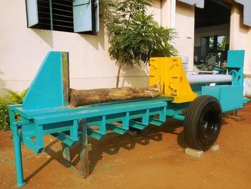 Max 600 Mm Dia Log HORIZONTAL WOOD SPLITTER, For Wood Splitting ...