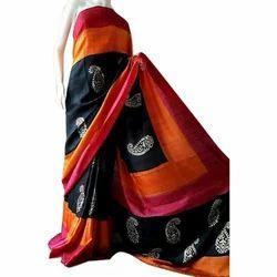 Party Wear , Printed Silk Saree