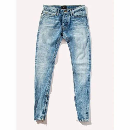116d0d8e5 Plain Light Blue Mens Lycra Denim Jeans