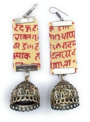 FE010 Handmade Fabric Earrings