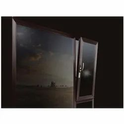 Rectangular Dark Bronze UPVC Hinged Window, Thickness Of Glass: 5 to 40mm, for Residential