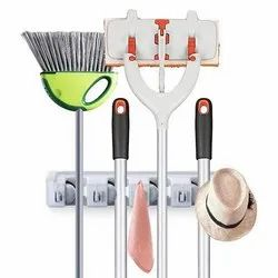 Mop & Broom Holder- White