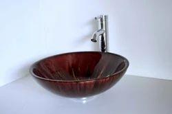 Brown  Round Resin Bowl