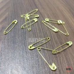 Brass Safety Pins Golden
