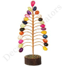 Agate Stone Tree, For Multi, Height - 11 Inch