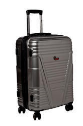 F Gear Valkyrie Polycarbonate 73 (cm) Silver Hardsided Suitcase (4 Wheel Trolley Case)