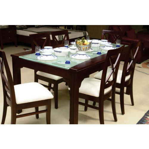 usha furniture wooden montana dining table with chair rs 52000 rh indiamart com