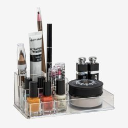 Transparent Rectangular Acrylic Cosmetic Display Stand, For Home,Parlour