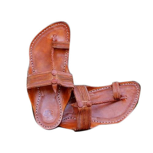 b127f7a79bfc Leather Tan Colour Kapshi Kolhapuri Chappal, Size: 6-12, Rs 750 ...