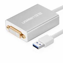 Grey USB3.0 to DVI Converter, 220 V
