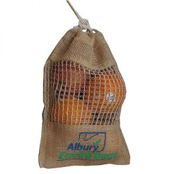 Fruit Jute Drawstring Bag