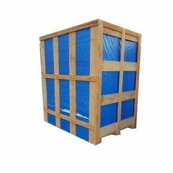 Rectangular Industrial Wooden Crate