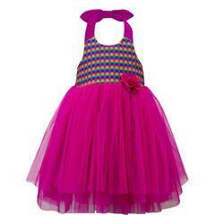 Halter Neck Party Dress for Girl