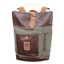 Canvas and PU Backpack Unisex