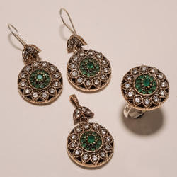 Round Copper Turkish Ring Pendant Set