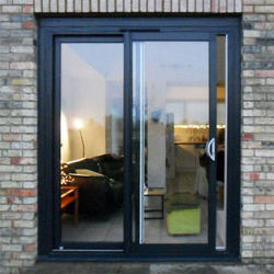Aluminum Alloy, Glass Jindal Sliding Doors, Size (inches): 36 X 84