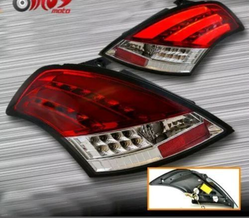 Led Brake Lights >> Spidy Moto Clear Red Led Rear Tail Lights With Led Indicators For Suzuki Swift