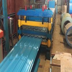Double Layer Color Coated Metal Roof Sheet Machine