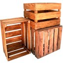 Plain Rectangular Fruit Shipping Wooden Crates