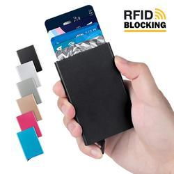 d0f1aac4256 RFID Blocking Metal 6 Slots Stainless Steel Aluminum Credit Card Holder  Wallet Case For Men A