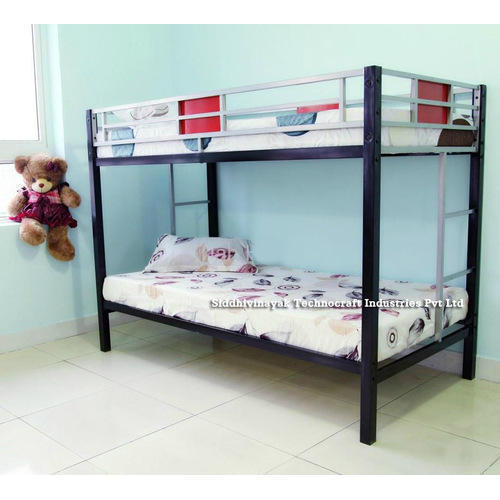 Siddhivinayak L 6 x W 3 x H 5 Ft Double Bunk Bed