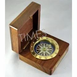 Nautical Wooden Box Compass