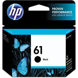 HP Black Cartridge, 61 Black