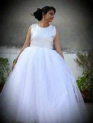 Nia's Western White Fairy Women Evening Gown