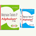 Alphalan Tablets, 25 Tablets 5 Mg, 2 Mg Packaging Type Strips