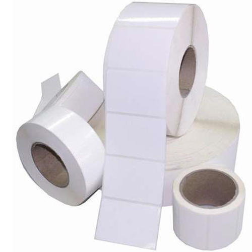 White Barcode Labels Roll