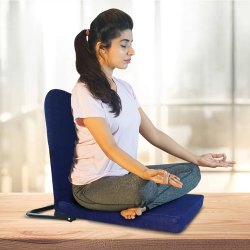 Right Angle Back Support Portable Relaxing Folding Yoga Meditation Floor Chair