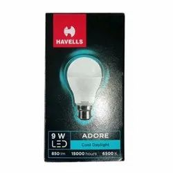 Ceramic Philips 9 W Havells LED Bulb