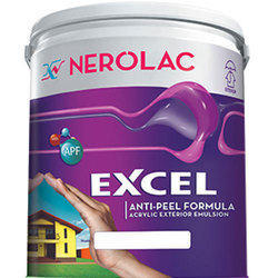 Nerolac 20L Excel Acrylic Exterior Emulsion Paint, Anti-Peel Formula ,Packaging Type: Bucket