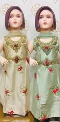 Girls Anarkali Suit with Embroidery