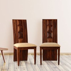Weight: 20 Brown Solid sheesham wood half diamond chairs, Warranty: 36 Months, Finish: Honey