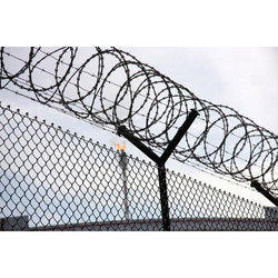Hot Rolled MS Concertina Wire for Security Fencing, Thickness :3-5 mm